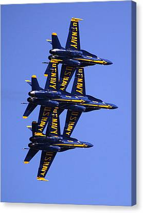 Blue Angels II Canvas Print by Bill Gallagher