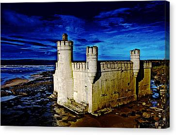 Blue Bathhouse Canvas Print by Tony Reddington