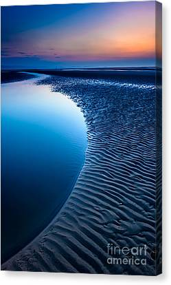 Blue Beach  Canvas Print by Adrian Evans