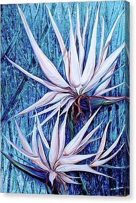 Blue Birds Canvas Print by Karin  Dawn Kelshall- Best
