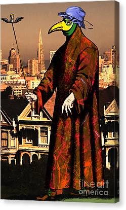 Blue Bonnet Plague Doctor Of San Francisco Alamo Square 20140306 Canvas Print by Wingsdomain Art and Photography