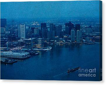 Blue Boston Canvas Print by Claudia M Photography