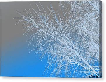 Blue Branches Canvas Print by Carol Lynch