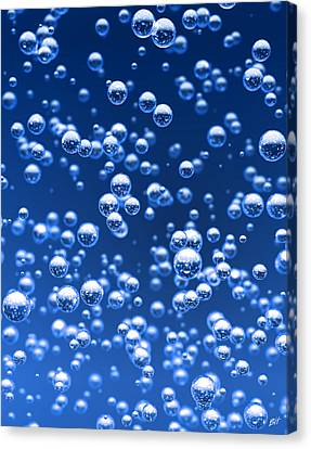 Blue Bubbles Canvas Print by Bruno Haver