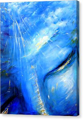 Blue Buddha Sky Canvas Print by Heather Calderon