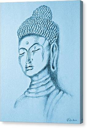 Blue Buddha Canvas Print by Victoria Lakes