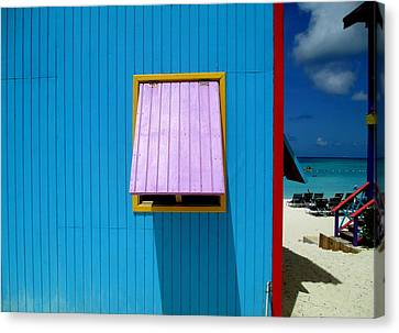 Blue Cabin Canvas Print by Randall Weidner