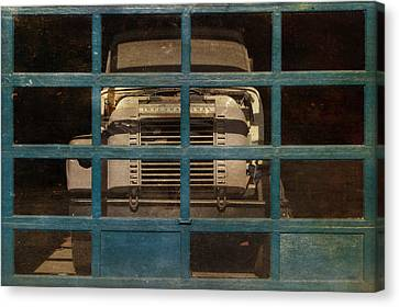 Blue Cage Canvas Print by Jeff  Gettis