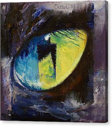 Blue Cat Eye Canvas Print by Michael Creese