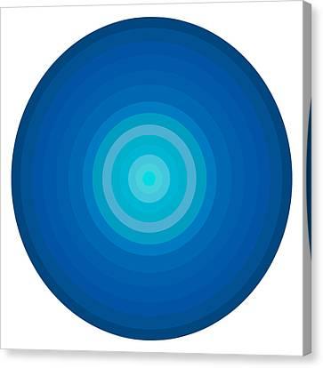 Blue Circles Canvas Print by Frank Tschakert