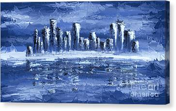Blue City Canvas Print by Svetlana Sewell