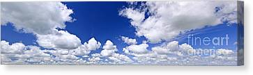 Blue Cloudy Sky Panorama Canvas Print by Elena Elisseeva