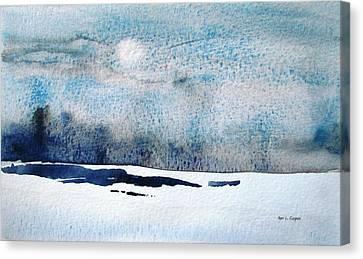 Blue Coast Canvas Print by Marc L Gagnon