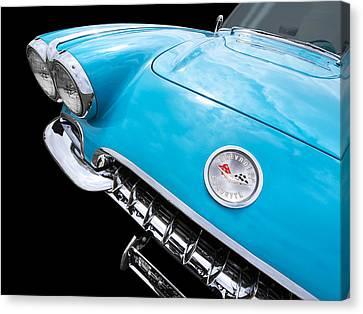 Blue Corvette C1 1958 Canvas Print by Gill Billington