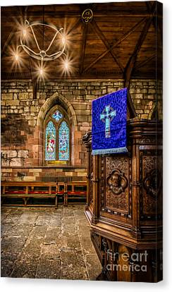 Blue Cross Canvas Print by Adrian Evans