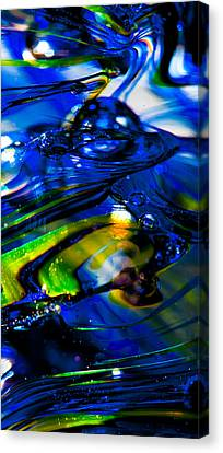 Blue Crystal Canvas Print by David Patterson