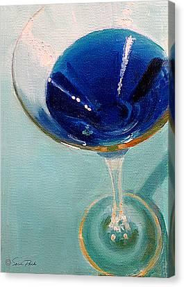 Blue Curacao Canvas Print by Sarah Parks