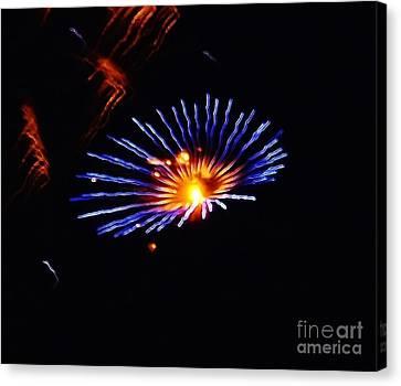 Blue Daisy Fireworks Canvas Print by Brigitte Emme