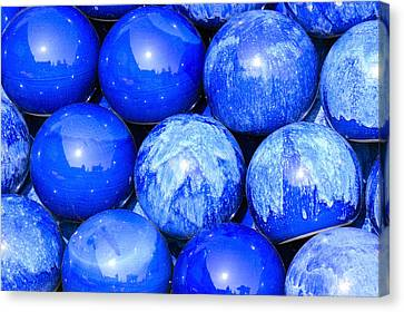 Blue Decorative Gems Canvas Print by Toppart Sweden