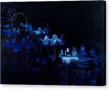 Blue Dining Room Canvas Print by Susie Hamilton