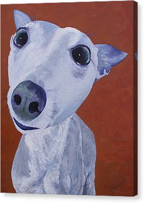 Blue Dog Canvas Print by Trish Campbell