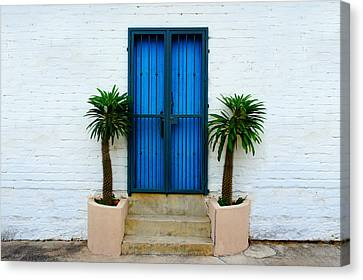 Blue Door Canvas Print by Aged Pixel