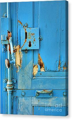 Blue Door Blues Canvas Print by Olivier Le Queinec