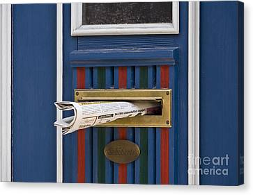 Blue Door Canvas Print by Heiko Koehrer-Wagner