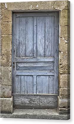 Blue Dordogne Door Canvas Print by Georgia Fowler