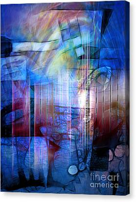Blue Drama Canvas Print by Artwork Studio