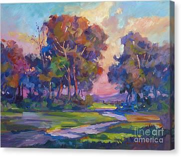 Blue Dusk Canvas Print by David Lloyd Glover