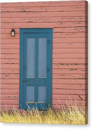 Blue Entrance Door Canvas Print by Juli Scalzi