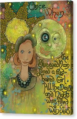 Blue-eyed Moon Canvas Print by Carol Jacobs