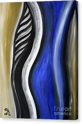 Blue Figure Canvas Print by Eva-Maria Becker