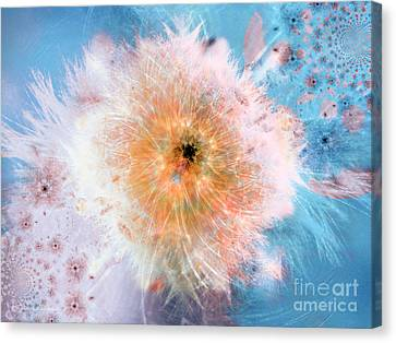 Blue Flower Power Canvas Print by Indira Emmerlich