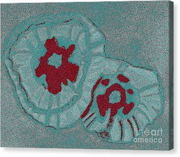Blue Flowers Canvas Print by Christine Perry