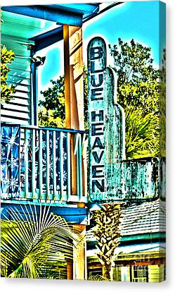Blue Heaven In Key West - 1 Canvas Print by Susanne Van Hulst