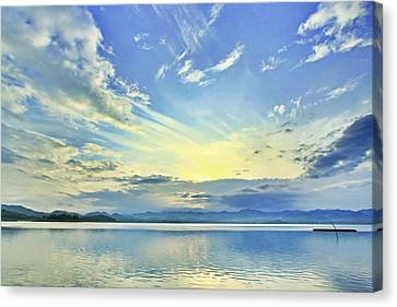 Blue Heaven Canvas Print by Suradej Chuephanich