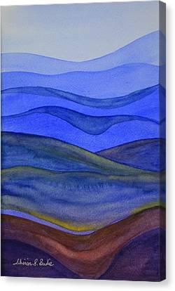 Blue Hills Canvas Print by Shirin Shahram Badie