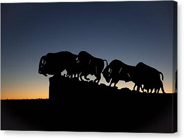 Blue Hour At Caprock Canyons State Park Canvas Print by Melany Sarafis