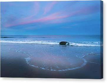 Blue Hour Beach Canvas Print by Bill Wakeley