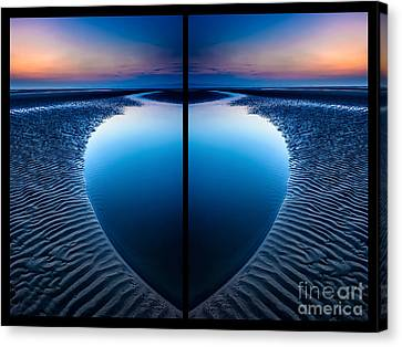 Blue Hour Diptych Canvas Print by Adrian Evans
