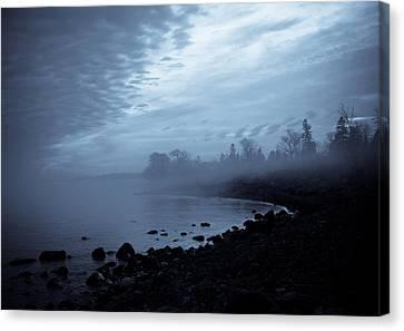 Blue Hour Mist Canvas Print by Mary Amerman