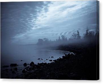 Blue Hour Mist Canvas Print by Mary Amerman