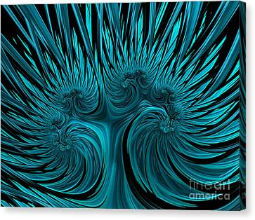 Blue Hydra Canvas Print by John Edwards