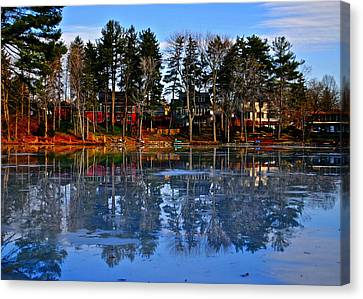Blue Ice Canvas Print by Frozen in Time Fine Art Photography