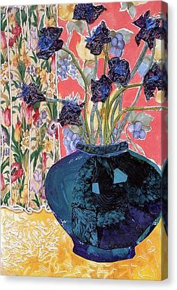 Blue In Blue Canvas Print by Diane Fine