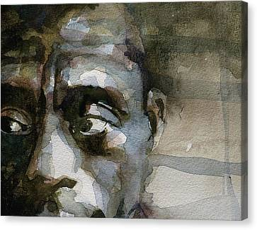 Blue In Green  Miles Davis Canvas Print by Paul Lovering