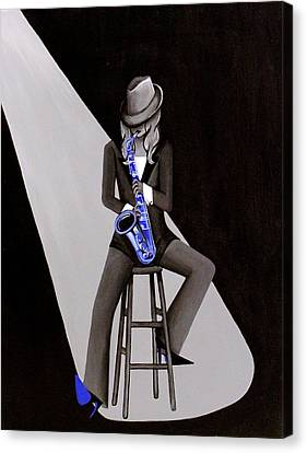 Blue Jazzmine Canvas Print by Allison Liffman