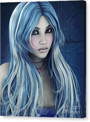 Blue Canvas Print by Jutta Maria Pusl